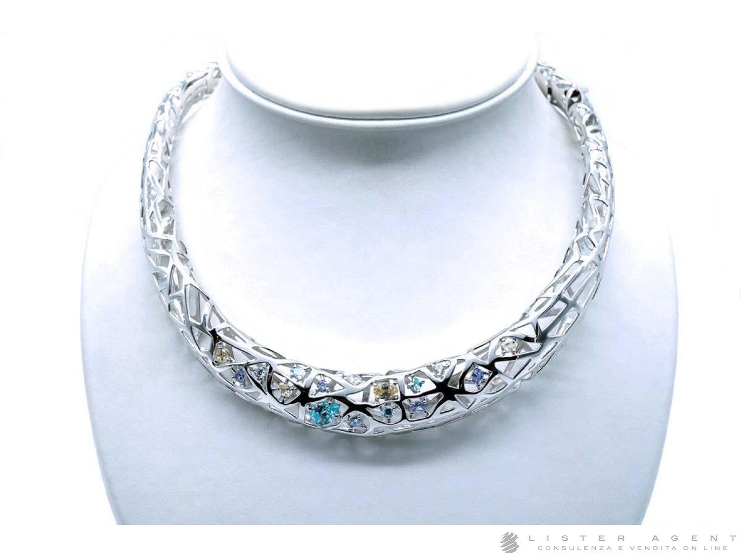 PIANEGONDA Nexum necklace in 925 silver and colored zircons Ref. PNX02. NEW! price and features