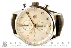 TAG HEUER Carrera Chronograph Cal. 1887 in steel Argenté AUT Ref. CAR2012.FC6236. NEW!