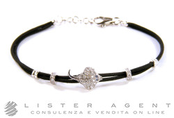 GIOVEPLUVIO bracelet Ray in 18Kt white gold with diamonds and sapphires. NEW!