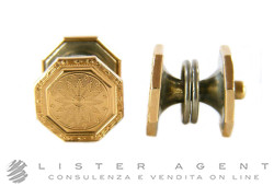 KREMENTZ cufflinks in 14Kt rose gold and 800 silver. NEW!