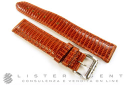 EBERHARD strap in leather of brown lizard MM 18,00 with buckle steel. NEW!