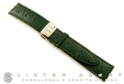 TISSOT strap in green ostrich skin mm 18,00 with branded steel folding clasp. NEW!
