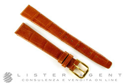 TISSOT strap in brown leather mm 14 with branded buckle in goldplated steel. NEW!