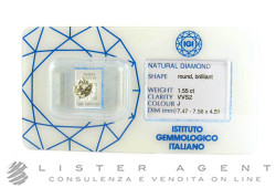 DIAMOND in blister pack ct 1,55 J VVS2 certified by IGICOM Ref. 44668. NEW!