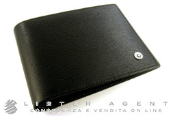 MONTBLANC Westside wallet 6cc with money clips in black leather Ref. 101867. NEW!