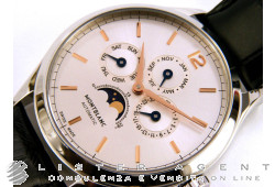 MONTBLANC Heritage ChronometreMoonphases and Completely Calendar in steel Argenté AUT Ref. 112534. NEW!