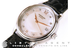 MONTBLANC Tradition Date lady in steel mother of pearl with diamonds AUT Ref. 114957. NEW!