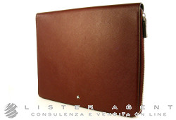 MONTBLANC tablet computer pouch with zip collection Meisterstück Selection in leather of bordeaux colour Ref. 109636. NEW!