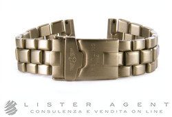 BREITLING bracelet in titanium with branded folding clasp MM22 Ref. 862E. NEW!