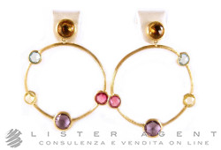 MARCO BICEGO earrings Jaipur in oro giallo 18kt and natural stones Ref. OB978MIX01. NEW!