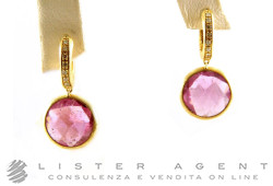 MARCO BICEGO earrings Jaipur in oro giallo 18Kt diamonds ct 0,12 and tormalina Ref. OB849BTR01. NEW!