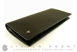 MONTBLANC wallet Westside 6cc with coin purse in black leather Ref. 8375. NEW!