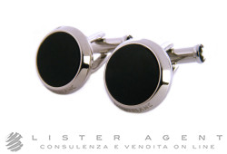 MONTBLANC Meisterstück cufflinks in steel and onyx Ref. 112896. NEW!