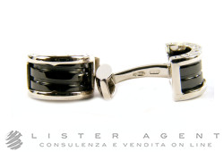 BULGARI cuff links Bzero1 in 925 silver and ceramic Ref. GM855817. NEW!