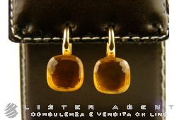 POMELLATO earrings Nudo in 18Kt rose and white gold with madera quartz Ref. OA107O6OV. NEW!