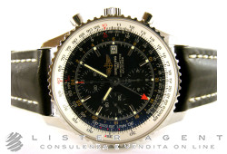 BREITLING Navitimer World Chronograph Gmt Automatic in steel Black Ref. A2432212B726. NEW!