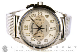 BREITLING TransOcean Chronograph 1915 Limited Edition in steel Argenté AUT Ref. AB141112/G799/154A. NEW!