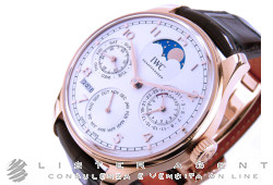 IWC Portoghese Perpetual Calendar with Moon phases automatic in 18Kt rose gold Argenté AUT Ref. IW503302. NEW!