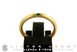 POMELLATO ring Milano in 18Kt brushed yellow gold and emerald Size 11 Ref. AA002SOSM. NEW!