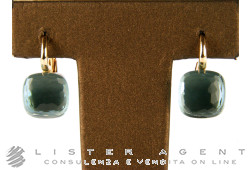 POMELLATO earrings Nudo in 18Kt rose and white gold with light blue topaze Ref. OA107O6OY. NEW!