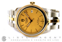 TUDOR Glamour Date in steel and 18Kt yellow gold Champagne AUT Ref. M55003-0005. NEW!