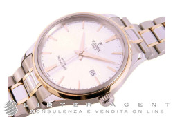 TUDOR Style Automatic MM41 in steel and 18Kt yellow gold Argenté Ref. M12703-0002. NEW!