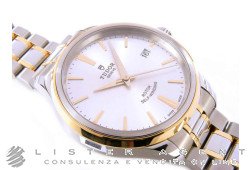 TUDOR Style Automatic MM38 in steel and 18Kt yellow gold Argenté Ref. M12503-0002. NEW!