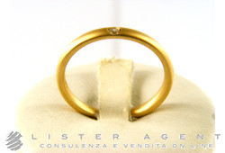 POMELLATO ring Lucciola in 18Kt brushed yellow gold with diamond Size 14 Ref. AA002SB1. NEW!