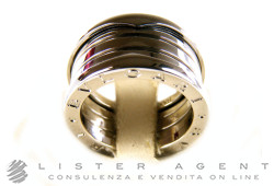 BULGARI ring Bzero1 a 4 bands in 18Kt white gold Size 15 Ref. AN191026. NEW!