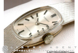 TISSOT Stylist 18Kt white gold lady hand winding Ref. 13203851. NEW!