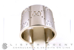 b96f1f10b GUCCI ring GG Ring 18Kt white gold Size 14 Ref. GG/720566S. NEW
