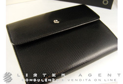 MONTBLANC wallet with coin purse in leather of black and white colour Ref. 101734. NEW!
