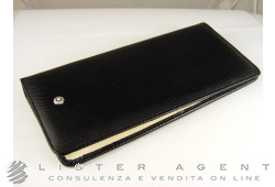 MONTBLANC wallet with coin purse in leather of black and white colour Ref. 101736. NEW!