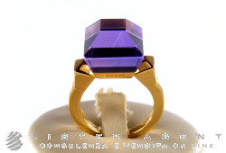 GUCCI ring Chiodo in 18Kt yellow gold and amethyst Size 13 Ref. 205816. NEW!