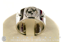 GUCCI ring Icon 9MM in 18Kt white gold and diamonds Size 13 Ref. 163039. NEW!