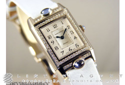 JAEGER-LE COULTRE Reverso Joaillerie 3 cabochons in 18Kt white gold hand winding Ref. 267.346.001B. NEW!