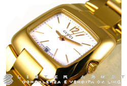 GUCCI Mod. 8505GP Lady in goldplated steel White Ref. 8505GP. NEW!