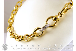 POMELLATO necklace in 18Kt yellow and white gold and diamonds ct 0,46 Ref. C950101B. NEW!