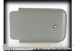 MONTBLANC Smartphone holder Starima Alcina in leather of slate grey colour Ref. 109171. NEW!