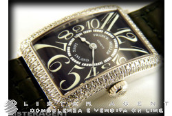 FRANCK MULLER Long Island Lady in 18Kt white gold and diamonds Argenté Ref. 900QZD. NEW!