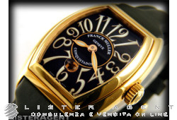 FRANCK MULLER withquistador Lady SC in 18Kt yellow gold Black AUT Ref. 8002. NEW!