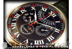 FRANCK MULLER Rondes Chronograph Perpetual Calendar Limited edition in 18Kt white gold Black AUT Ref. 7008CCQPEI. NEW!