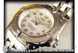 BREITLING Callistino lady in steel Mother of pearl Ref. A7245C2A541765A. NEW!