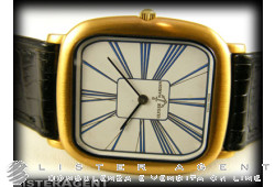 ULYSSE NARDIN Carrè watch Only time in steel White hand winding Ref. 1507. NEW!