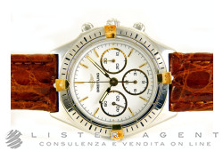 BREITLING Callisto Chrono in steel and 18Kt white gold hand winding Ref. 80520BCP. NEW!