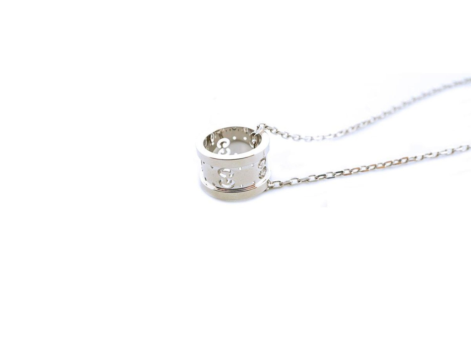 691499b005b GUCCI Icon Twirl necklace in 18Kt white gold Ref. YBB21416900300U. NEW    Lister Agent