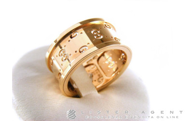 GUCCI bague Icon Twirl GG MM 9,5 en or rose 18 carats. NEUF!
