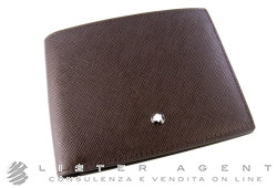 MONTBLANC portafogli 6CC Leather Goods Meisterstuk Selektion in pelle marrone Ref. 112423. NUOVO!