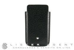 MONTBLANC porta SmartPhone Meisterstuck selection in pelle nera Ref. 109186. NUOVO!