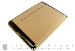 MONTBLANC porta Tablet iPad I (APP3) per iPad 3 e 4 coll. Meisterstuck Soft Grain in pelle beige Ref. 111230. NUOVO!